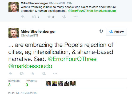 Shellenberger tweet