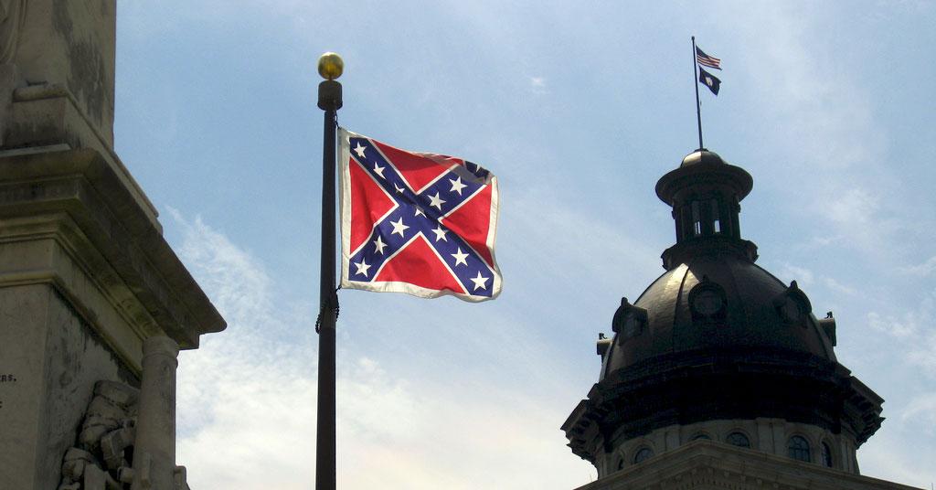 Confederate Flag Over South Carolina
