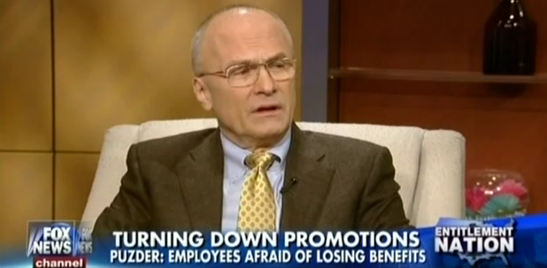 Andy Puzder Doesn't Pay Overtime, Thinks Welfare Is Reason He Can't Find Good Help