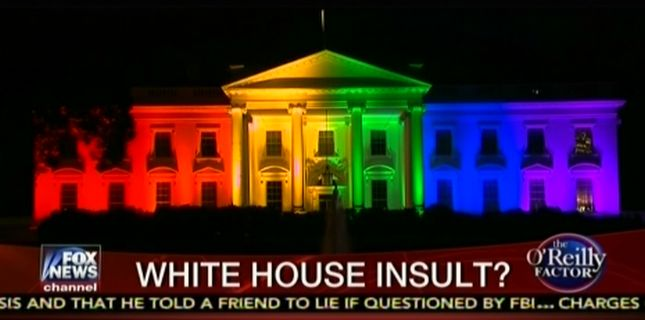 O'Reilly Lashes Out At Obama For Rainbow White House Display After
