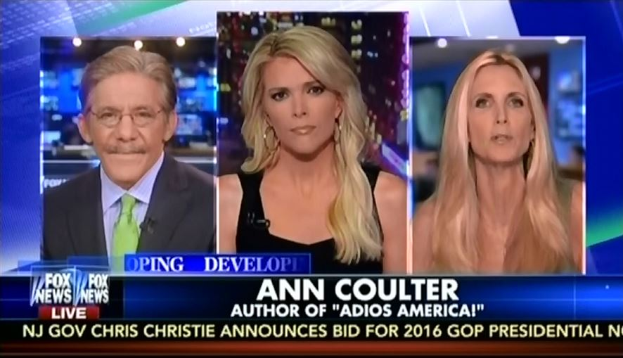 Coulter and Rivera and Megyn Kelly