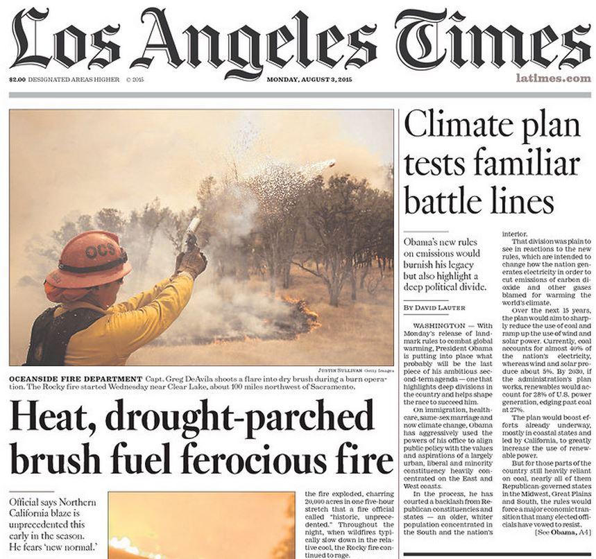 weather content around newspaper