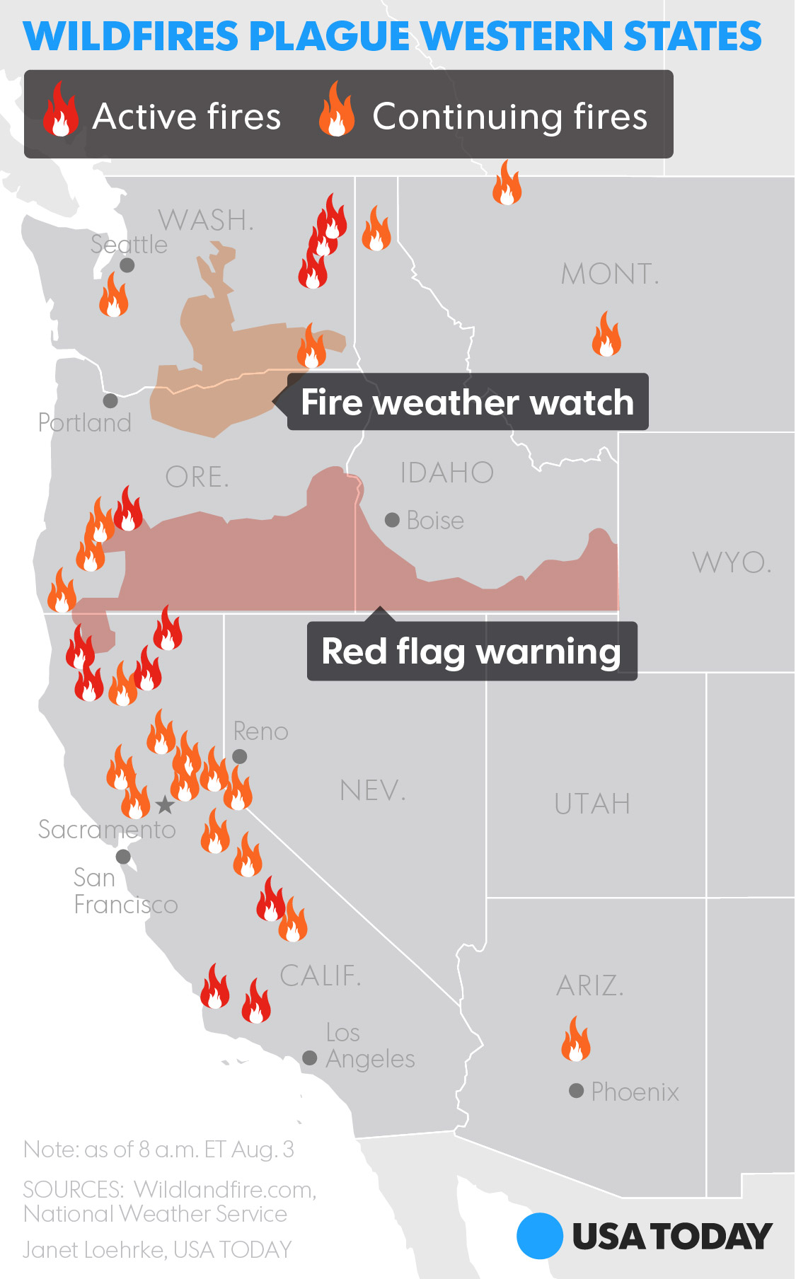 US Wildfire Map GIS Lounge Hazard Mapping System Fire And Smoke
