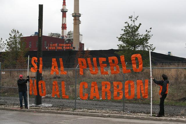 Latino coal protest