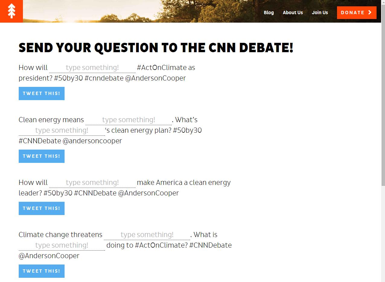 NextGen Climate Questions For CNN Debate