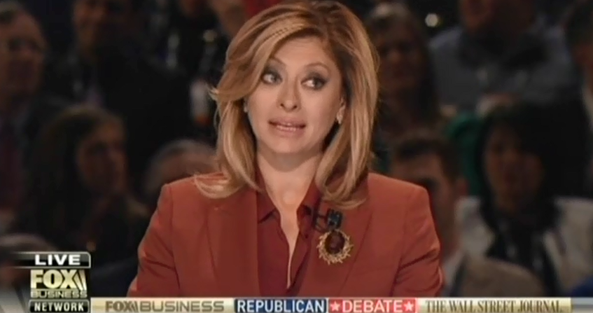 """Fox Business' Maria Bartiromo Pushes Myth That """"Almost 40 Percent Of ..."""