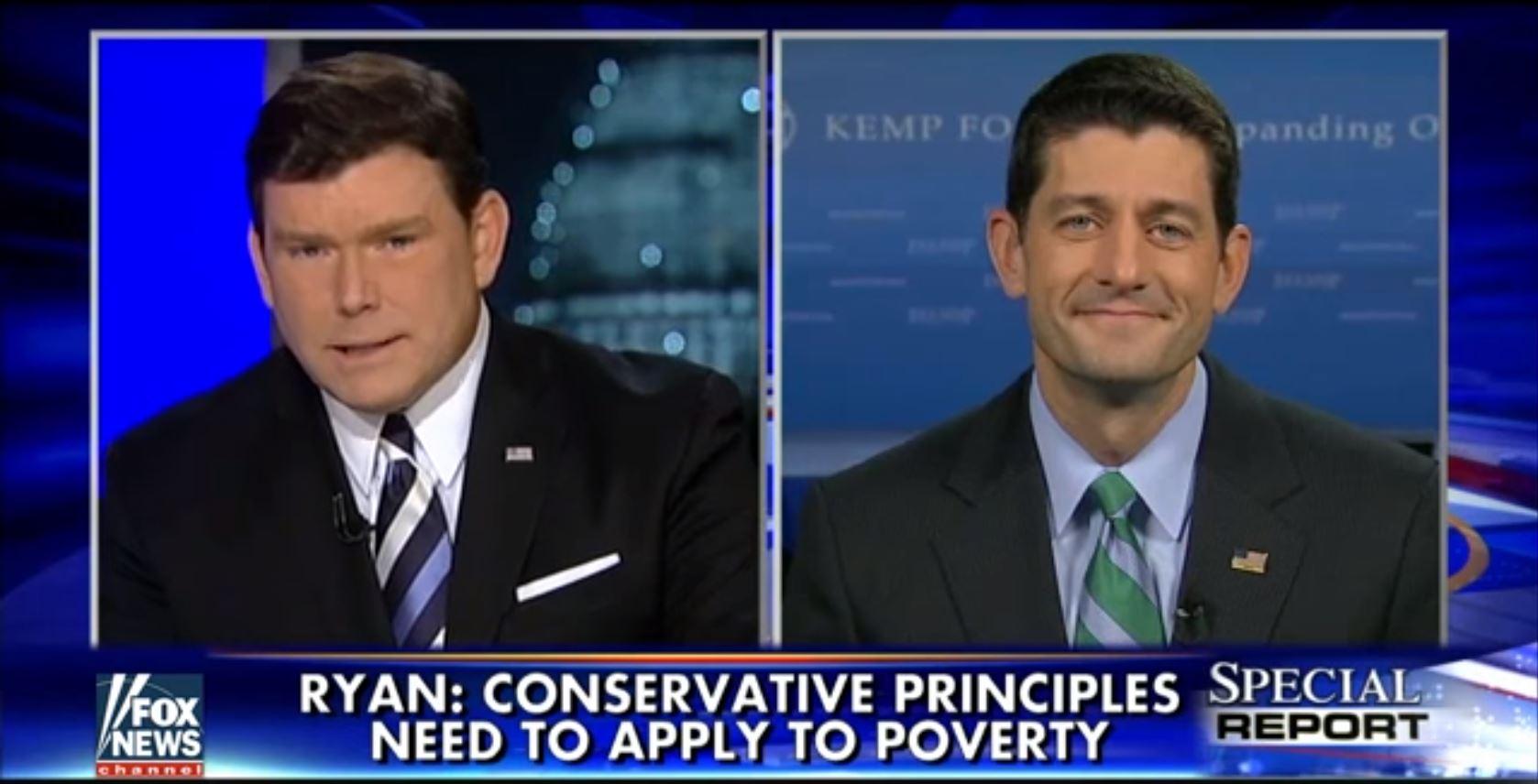 Bret Baier, Paul Ryan