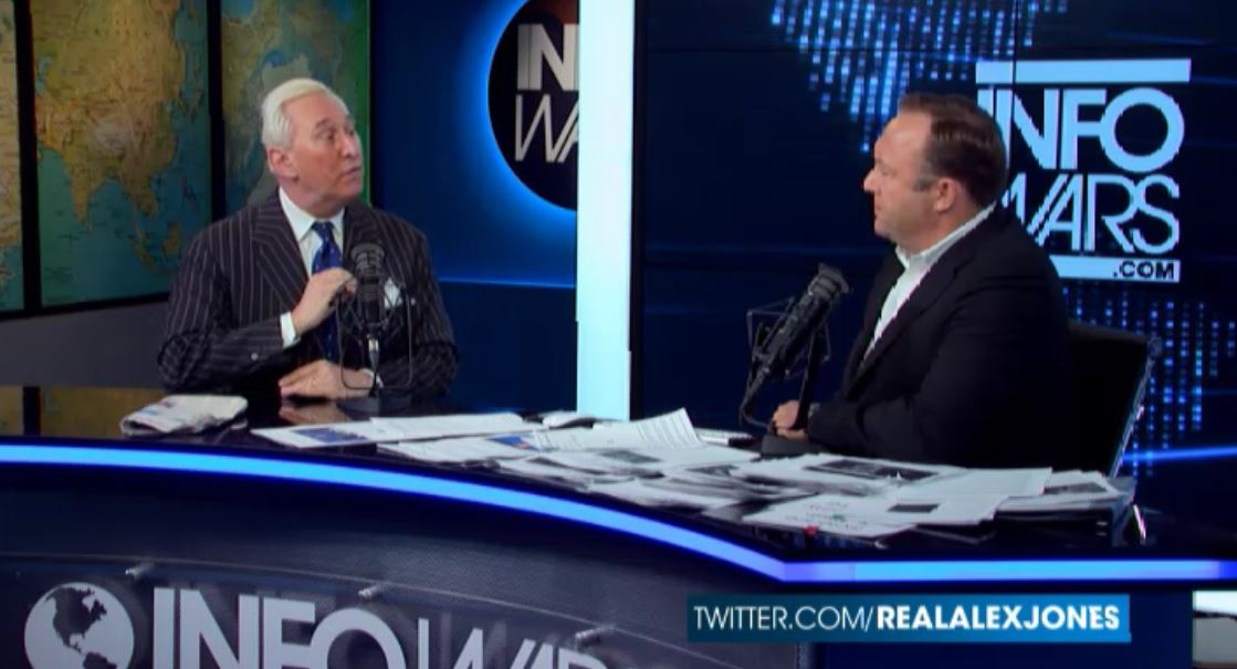 Trump allies roger stone and alex jones warn quot the globalists quot may fake