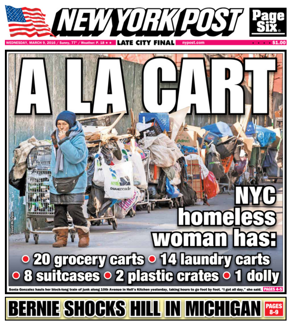 The New York Post Shamelessly Attacks Homeless Woman