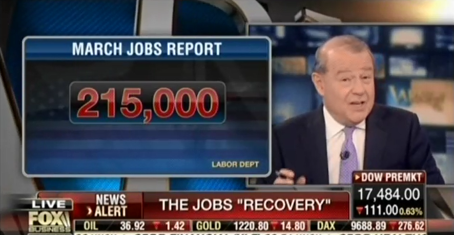 Varney discussing jobs report