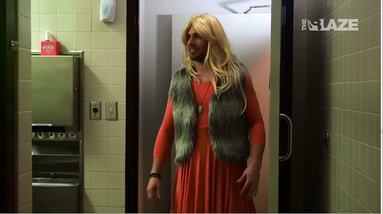 The blaze mocks transgender people in skit hyping bathroom - Transgender discrimination bathroom ...