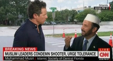 "On CNN, The Islamic Society Of Central Florida's Imam Musri Condemns ""In The Strongest Terms"" The Orlando Attack"