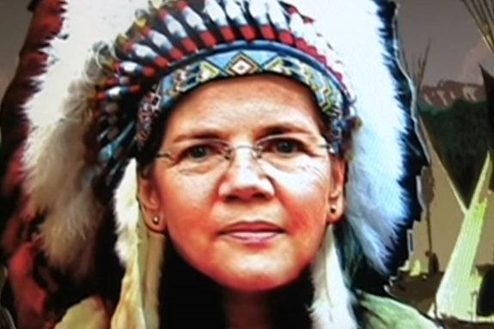 Image result for elizabeth warren pocahontas
