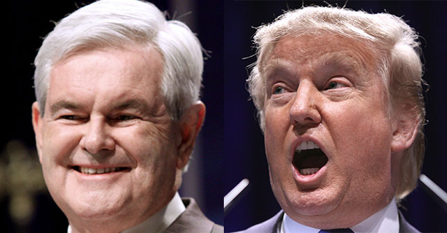 Newt Gingrich's Fox News Contract Suspended