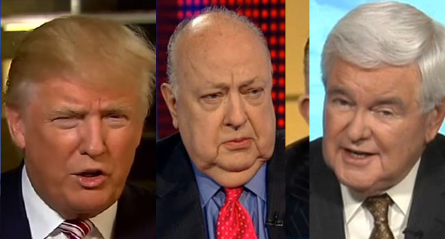Trump, Ailes, Gingrich