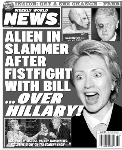 """Hannity Is Convinced Former Editor For Defunct Tabloid Weekly World News Worked As """"Fixer"""" For Clinton 