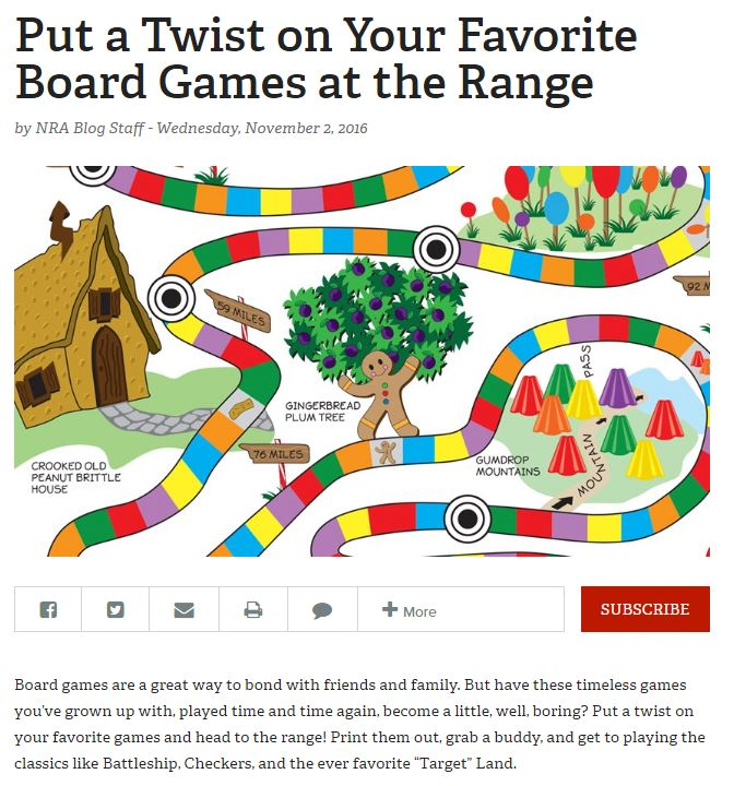 Nra Repurposes Kids Board Game Candy Land As Shooting Target