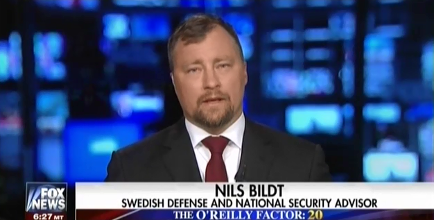 "Bill O'Reilly Hosted A Fake Swedish Defense ""Advisor"" To Fearmonger About Refugees"