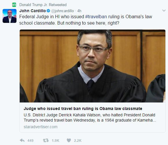 Image result for judge watson muslim ban halt obama's friend