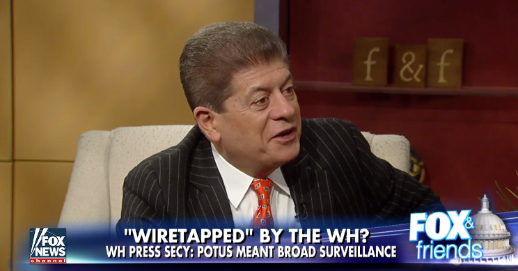 Andrew napolitano off fox news indefinitely after media matters