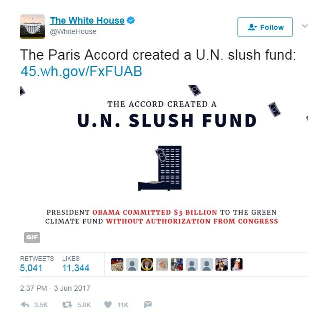 white house twitter screenshot