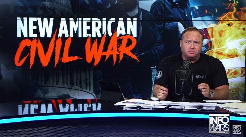 Alex Jones won't start the next American civil war, but he is ready