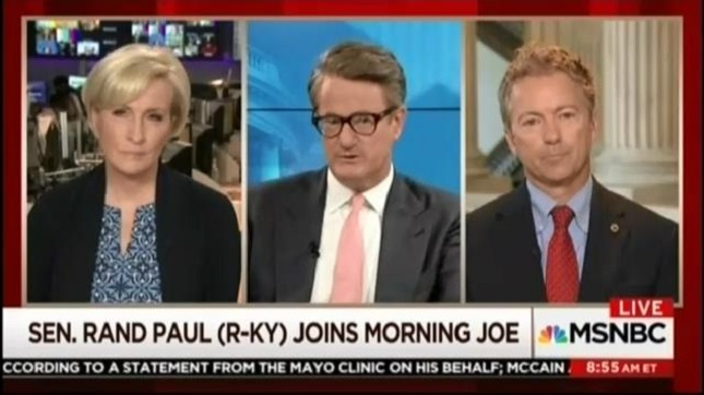 Morning Joe doesn't push back when Rand Paul compares CBO methodology to