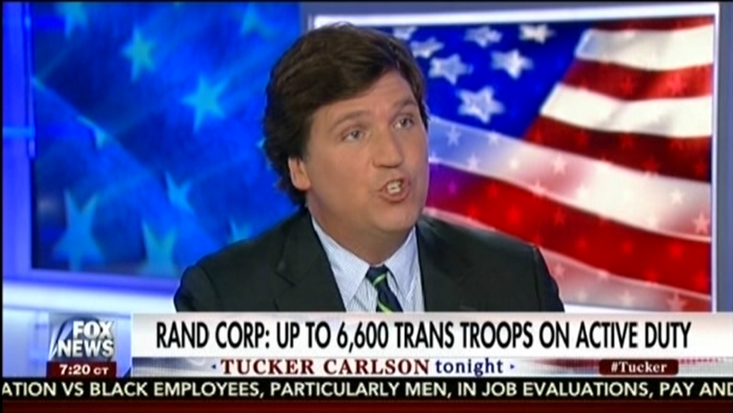 Tucker Carlson: The cost justifies firing thousands of transgender service members