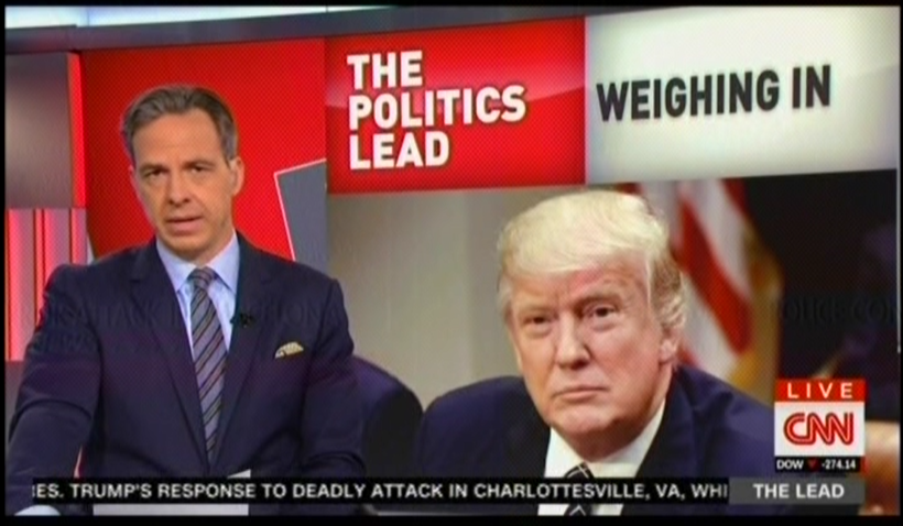 CNN's Jake Tapper: Trump condemned Barcelona attack immediately but has yet to call Nazi attack terrorism