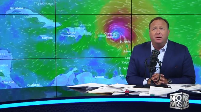 "Alex Jones: The timing of upcoming disaster movie Geostorm is ""suspicious"" given Hurricane Irma"