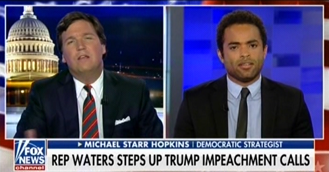 """I read Breitbart"": Tucker Carlson lashes out at Maxine Waters for calling Breitbart racist"