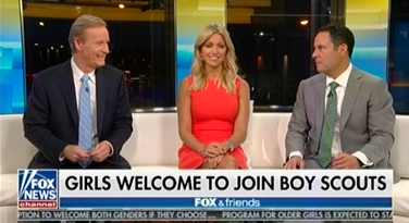 "Fox's Ainsley Earhardt: Decision to let girls join the Boy Scouts is a ""result of... P.C. culture"""