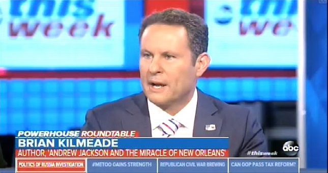 On This Week, Fox's Brian Kilmeade relitigates debunked falsehoods about the Trump-Russia dossier
