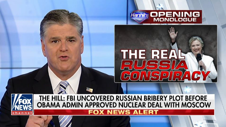 Hannity hopes William Barr will use the attorney general's office to prosecute Trump's political opponents
