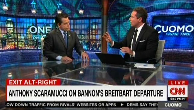 CNN's Chris Cuomo asks Anthony Scaramucci why he should ...