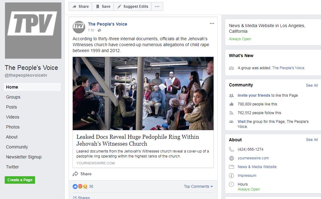 Some fake news websites have lost their Facebook