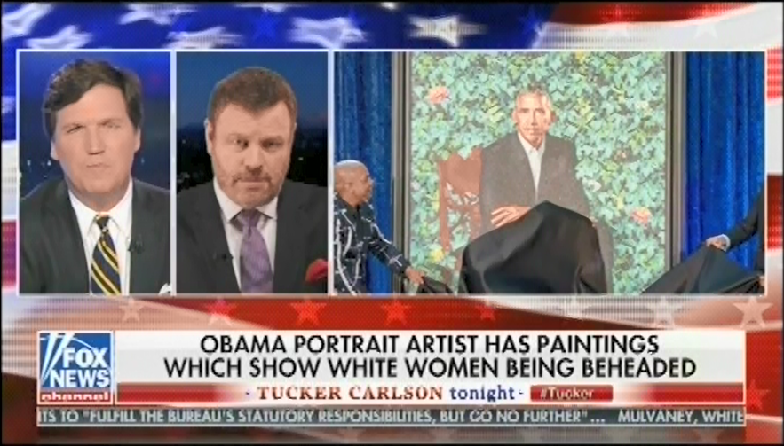 photo image Tucker Carlson joins smear campaign attacking Obama portrait artist