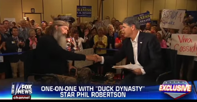 Duck Dynasty's Phil Robertson tells Hannity that Hillary Clinton and Christopher Steele are controlled by the Devil