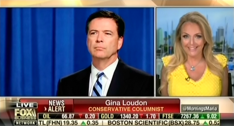 """Fox guest says James Comey is """"very disturbed"""" and """"should be sitting in a prison somewhere"""""""