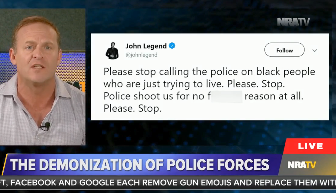 "NRATV: John Legend speaking out about police brutality ""does a great  disservice to America"""