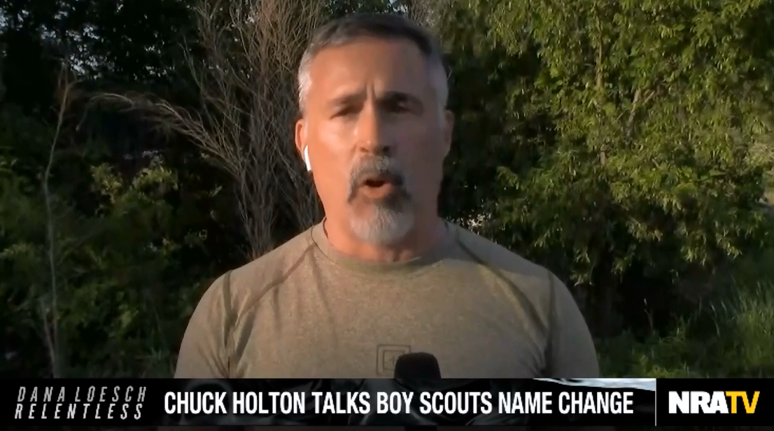 """NRATV's Chuck Holton: A huge problem in America today is """"young men are being turned into second-rate women"""""""