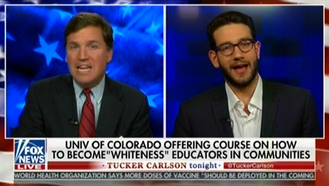photo image Watch Tucker Carlson beg a guest to say something racist