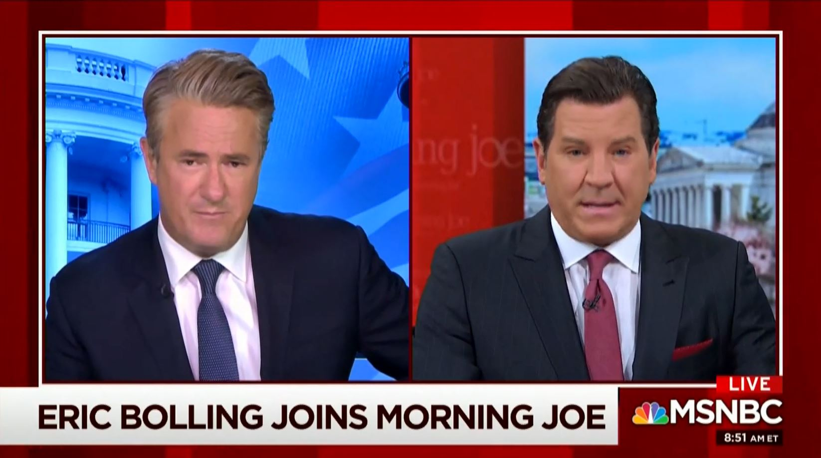 Morning Joe promotes the new CRTV show of Eric Bolling, who