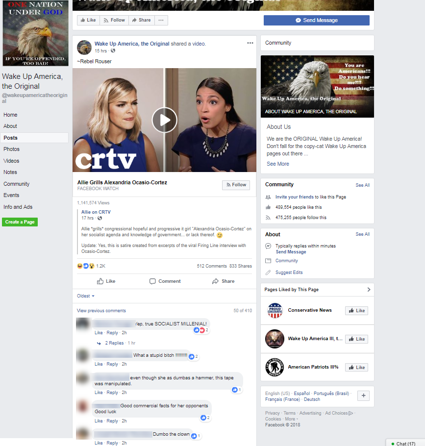 This Analysis Shows How Viral Fake Election News Stories: CRTV's Fake Interview With Alexandria Ocasio-Cortez Went