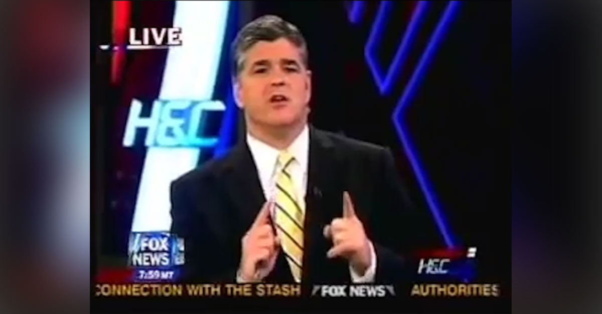"""Sean Hannity in 2008: """"If you cheat on your wife, are you going to be honest with your country?"""""""