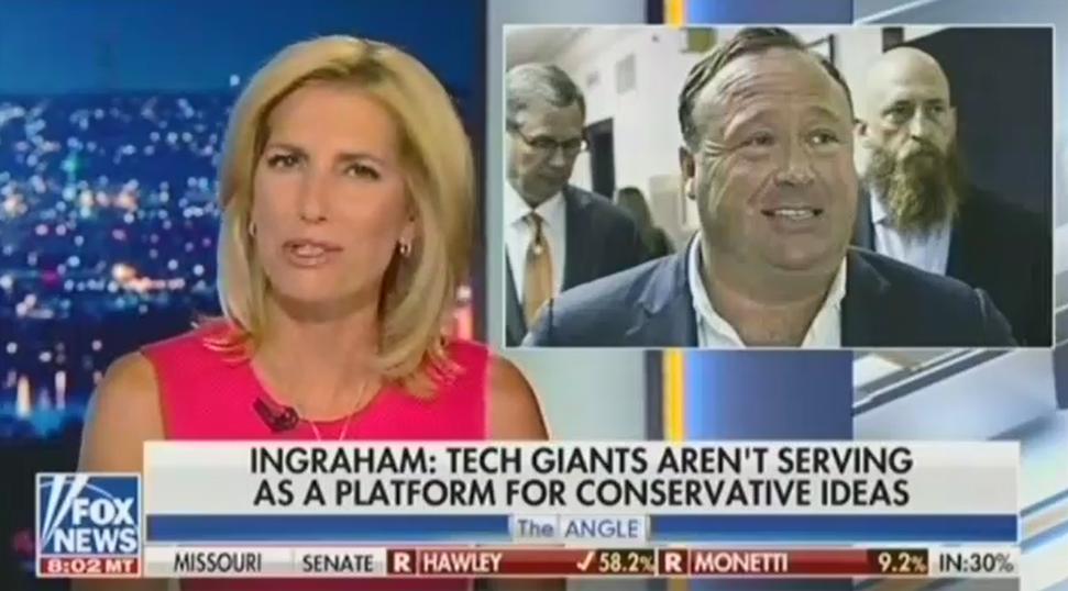 Laura Ingraham calls Infowars social media ban