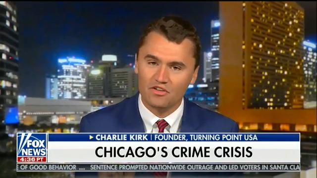 Charlie Kirk blames Chicago gun violence on