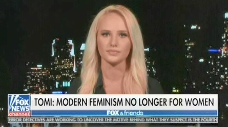"""Fox's Tomi Lahren: Modern-day feminism is less about """"equal rights"""" and more about """"man bashing anddemanding free things"""""""