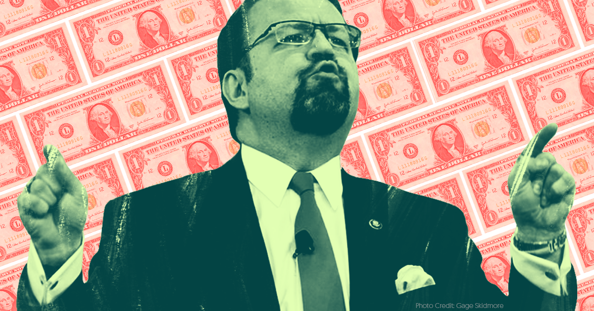 Sebastian Gorka has banked almost $18,000 from GOP candidates