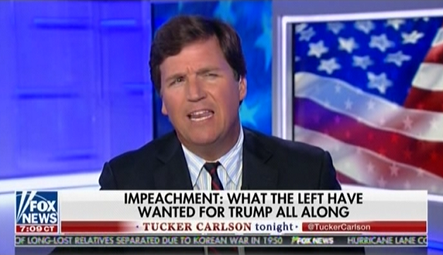 """Tucker Carlson: Trump """"bragged about his low sexual standards"""" in Access Hollywood tape"""
